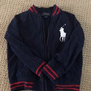 Polo RL big pony fleece jacket/sweatshirt size 5/6